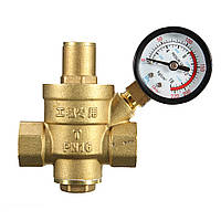 DN20 NPT ½ «» Регулируемый Brass воды Регулятор давления Редуктор с манометром Meter