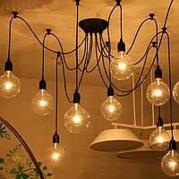 12 глава промышленного старинных Эдисон люстра подвесная лампа потолочный светильник