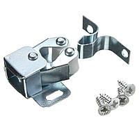 Серебро ролик улов шкаф шкаф дверных защелок близнецы двойные фиксаторы с винтами