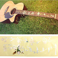 Гитары бас декор наклейки гриф маркерные DIY FRET наклейке цветы и растения