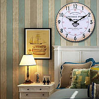 Ретро Vintage Style Round Wood Wall Clock Office Home Living Room Decor