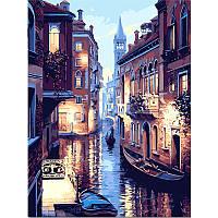 40x50cm бескаркасных Водный Мир Венеции Холст льняной холст картины маслом DIY Paint в цифрах