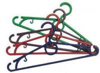 Вешалки-плечики цветная с поворотным крючком 42см