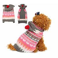 Собака кошка снежинка свитер зимняя теплое пальто куртки пальто жилет костюм куртки шлема одежды балахон