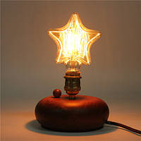 Kingso 220В E27 40w Эдисон лампы накаливания накаливания ретро старинные лампы звезда / сердце лампы форма
