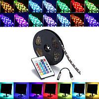 0,5 / 1/2/3/4 / 5M SMD5050 RGB светодиодные ленты лампы Бар ТВ Назад Освещение Kit + USB Пульт дистанционного управления DC5V
