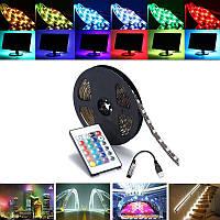 0,5 / 1/2/3/4 / 5M SMD5050 RGB Водонепроницаемы LED Прозрачный свет для телевизора с подсветкой Набор + USB Дистанционное Управление DC5V