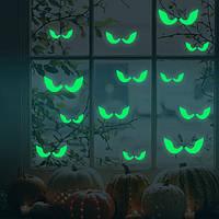 Хонана DX-166 18PCS Хэллоуин флуоресцентное свечение украдкой глаза стикер стены Главная спальня декор