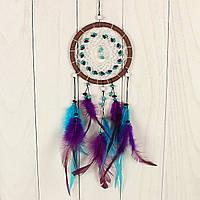 Ловец снов перо кожа ловца снов висит украшение орнамент дар длинные 43cm