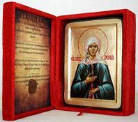 Икона греческая Ксения Петербургская золото