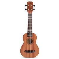 21-дюймовый Акустическая сопрано укулеле сапеле Гавайи Музыкальный инструмент