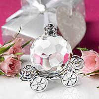 Кристалл тыквы автомобиля душа ребенка свадебный подарок украшение с коробкой
