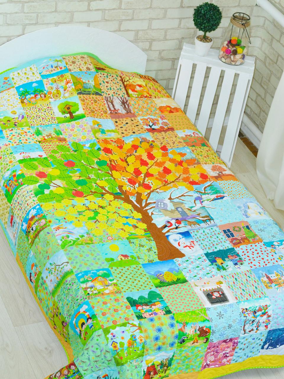 Одеяло-покрывало для детей и подростков «Времена года», Loskutini