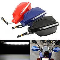 Пара 7/8 дюймов 22мм LED Handlebar Handguard Протектор Мотоцикл Велосипед Универсальный