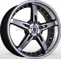 Литые диски Storm SATO-5 HBPInoxL 7.5x18/5x114.3 D73.1 ET45 (Hyper Black Polished with Inox Lip)
