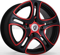 Литые диски Storm Z-404 BPR 6.5x15/5x100 D67.1 ET35 (Black Polished Red)