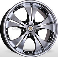 Литые диски Storm RIVERA BPInoxL 7.5x17/5x114.3 D73.1 ET45 (Black Polished with Inox Lip)