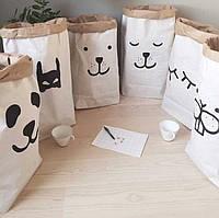 Дети Крафт-бумага мило сумка для хранения ребенка животное письмо игрушки одежда для стен дети метизы кругленькую карман