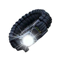 Открытый EDC выживания привело браслет Paracord Вязаные браслет с компасом Camping Дикость Tool