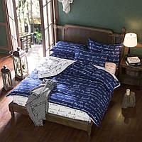 3 или 4 шт полиэфирное волокно синие буквы реактивной крашение постельные наборы двойной полный размер королева