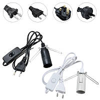 Гималайская соль лампы Черный Белый E14 Лампа Electric Power Cord On / Off держатель гнездо