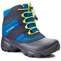 fdddaa840c38 Снегоходы COLUMBIA - Youth Rope Tow III Waterproof BY1322 Blue Magic Green  Mamba 426
