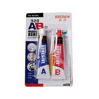 Браун 328 16ml AB Модифицированный акриловый клей Клей Супер липкие для Plastic Кожа Резина Ремонт