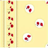 Клеенка ПВХ в рулоне Dekorama 1.4*25м Маки