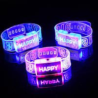 2016 рад LED браслет браслет светящийся счастливый танец браслета украшение партии
