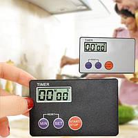 Портативный размер кредитной карты цифровой таймер ЖК кухня кабинет кухня кулинария таймер