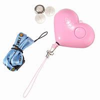 Личная безопасность сигнализация брелок предотвращения женщины мобильный телефон шум с LED света