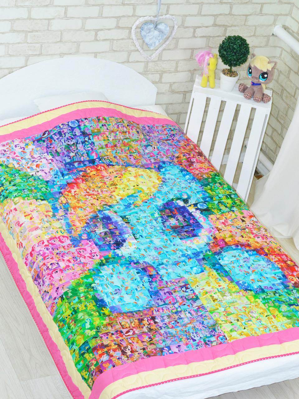 Одеяло-покрывало для детей и подростков «Пони Мозаика», Loskutini
