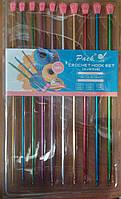 Набор крючков для вязания 2.5мм-8мм,10шт