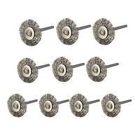 10шт 22мм стальная проволока колеса щетка для Dremel вращающихся инструментов 1TopShop