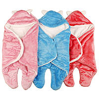 Ребенок спальный мешок прекрасный мягкий фланель животных младенец пеленание одеяло обертывание sleepsacks