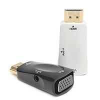 1080P USB HD Мужской к VGA Женский TV AV конвертер с кабелем