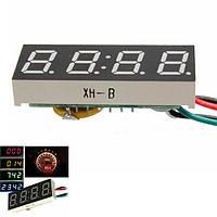 Цифровая LED Часы DC 7-30v для автомобилей грузовик мотоцикл 24 часа времени