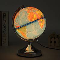 Электронный Illuminated Blue Ocean World Earth Globe Вращающийся Night Light рабочего украшения
