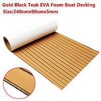 240cmx90cmx5mm золота с черными линиями морских напольных покрытий Поддельный Тик EVA пены лодка Опалубка лист