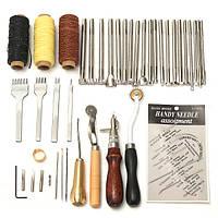 48 шт Кожаное ремесло Набор Набор Ручная швейная вышивка перфорированная седло
