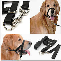 Собаки щенка Nylon Регулируемая пряжка Морда Управление Баркирующая вентиляция Черная