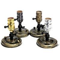 E27 / E26 Эдисон сокет лампа старинных светло-серебристый / золотистый / зеленая патина / черный держатель 110-240