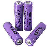 4 штучки Литий Ионных аккумуляторов GTL 3.7V 2300mAh 14500