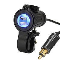 12-24 4.2A мотоцикла Dual USB штекер зарядного устройства Разъем для BMW/грузовой/Триумф/Ducati/Hella