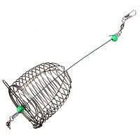 ZANLURE 10г Проволока из нержавеющей стали Рыбалка Bait Приманка Клетка Рыбалка Trap Basket Feeder Holder