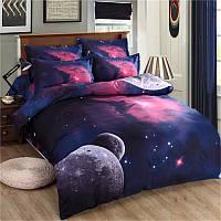 Honana WX-8868 3 / 4шт Galaxy 3D Комплекты постельных принадлежностей Вселенной космического пространства пододеяльник Встроенная простыня наволочк