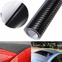 3d углеродного волокна винил автомобиль обернуть лист рулон пленки наклейки пропуск DIY 100 x12 черный