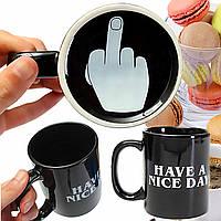 10oz новинка керамические средний палец кофейные чашки личность офис подарки есть хороший день кружку