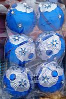 Новогодние шарики ручной работы 6 шт.