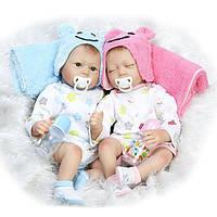 22inch близнецы Reborn Baby Doll Реалистичного мальчик девушка играть дома игрушки